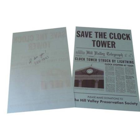 BACK TO THE FUTURE - CLOCK TOWER FLYER REPLICA