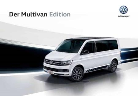Volkswagen Vw Multivan Edition brosjyre 04 / 2016 AT
