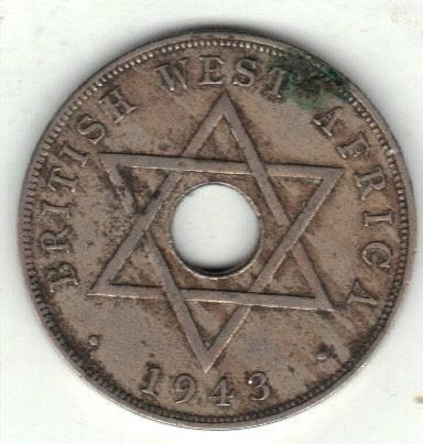 British West-Africa 1 penny 1943