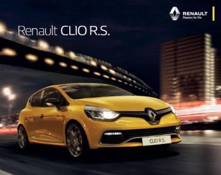 Renault Sport Clio R.S. brosjyre 10 / 2015 AT