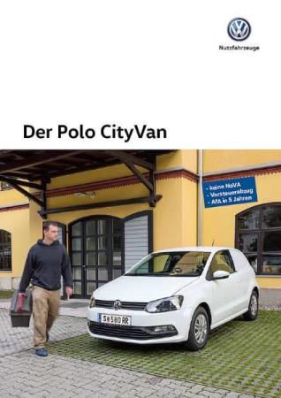Volkswagen Vw Polo City Van brosjyre 09 / 2015 AT