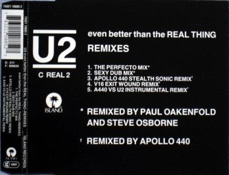 U2 - Even Better Than The Real Thing - Remixes