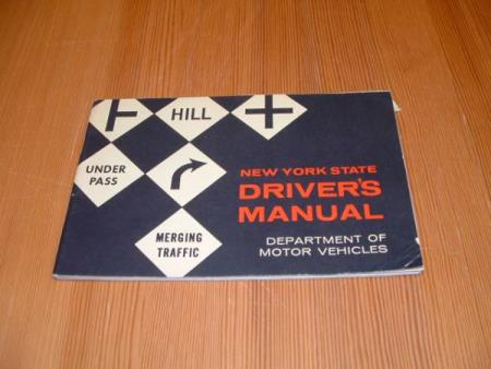 NEW YORK STATE DRIVERS MANUAL - 1966