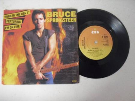 "BRUCE SPRINGSTEEN 7"" * I'M ON FIRE / BORN IN THE USA - Dyrvk - BRUCE SPRINGSTEEN 7"" SINGLE P/S * I'M ON FIRE / BORN IN THE USA *  - Dyrvk"