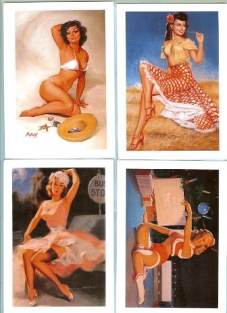 The Art of the Pin-Up Girl (Series 3) - 4 ubrukte postkort