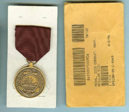 U.S. Navy Good Conduct Medal med original konvolutt