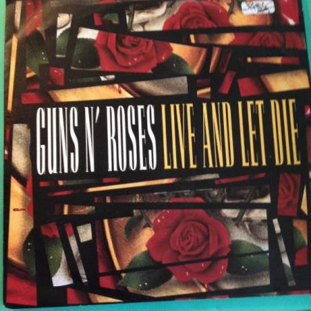 SINGELVINYL: GUNS N ROSES: LIVE AND LET DIE/LIVE......(LIVE)