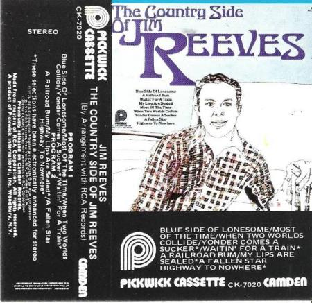 JIM REEVES.-THE COUNTRY SIDE OF JIM REEVES.-1976.