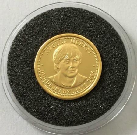 Germany - gold coin Angela Merkel - 1 g gold