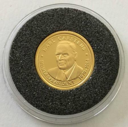 Germany – gold coin Karl Carstens – 1 g gold