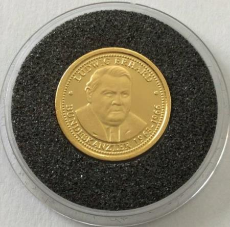 Germany – gold coin Ludwig Erhard – 1 g gold