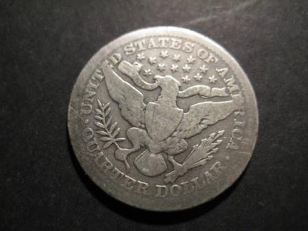 1/4 Dollar USA 1907 sølv