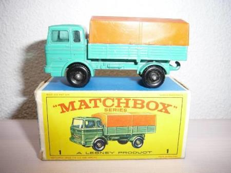 Mercedes Covered Truck - Matchbox Lesney No. 1e