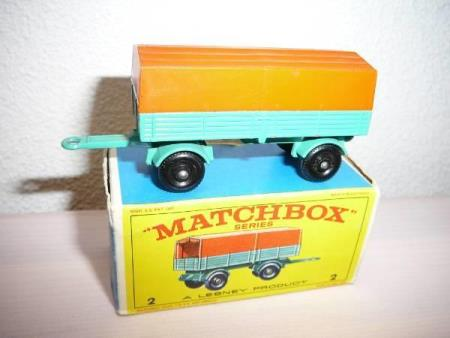Mercedes Covered Trailer - Matchbox Lesney No. 2d