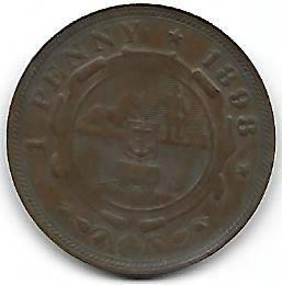 Nydelig Syd-Africa 1 penny 1898