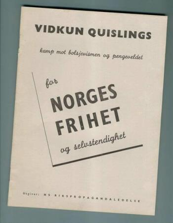 Quisling For Norges frihet. 1942