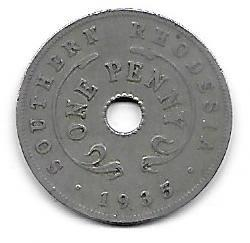 Southern Rhodesia 1 penny 1935