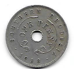 Southern Rhodesia 1 penny 1938