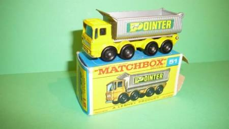 AEC 8 Wheel Tipper - Matchbox Lesney No. 51c