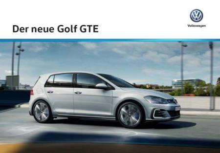 Volkswagen Vw Golf GTE brochure 07 / 2017 AT