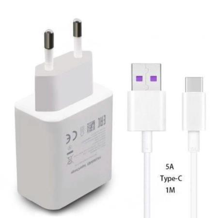Original Huawei Super Charger USB Type-C 5A Charging For P20