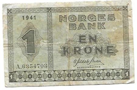 Norge 1 krone 1941 A