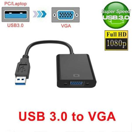 USB 3.0 TIL VGA 1080P MULTI-DISPLAY / MIRROR-DISPLAY KONVERT - Oslo - USB 3.0 TIL VGA 1080P MULTI-DISPLAY / MIRROR-DISPLAY KONVERTER KUN KR. 129.- USB3.0 to VGA video converter connects your USB of PC.laptop to CRT / LCD monitor, projector display device. So you can watch HD video on HDTV, projector that has VGA outp - Oslo