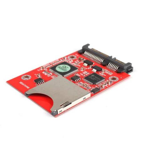 SDHC / MMC HARD DISK MODUL MED 7 + 15 PIN SATA - Oslo - SDHC / MMC HARD DISK MODUL MED 7 15 PIN SATA KUN KR. 159.- Makes SD/MMC flash memory card be a super compact, cost efficient, anti-shock, low power consumption, no acoustic noise and fast access time HD. One 7 pin 15 pin SATA male connector. Enable - Oslo