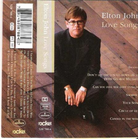 ELTON JOHN.-LOVE SONGS.-CANDLE IN THE WIND.-1995.