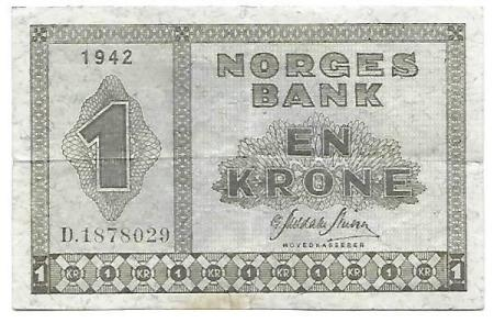 Norge 1 krone 1942 D