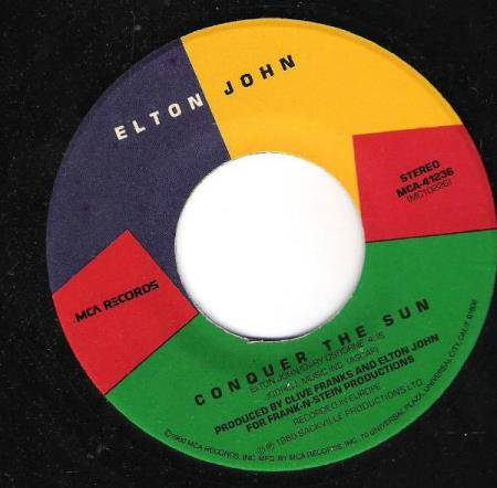 ELTON JOHN.-CONQUER THE SUN-LITTLE JEANNIE.-1980.