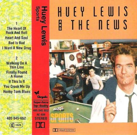HUEY LEWIS & THE NEWS.-SPORTS.-1983.-HONKY TONK BLUES.