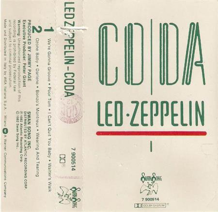Led Zeppelin - Coda - MC - Italiensk