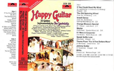 THE SPOTNICKS.-HAPPY GUITAR-20 GOLDEN INSTRUMENTALS.-1964-80