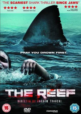 THE REEF (2010) (HORROR) (DVD) - Larvik - PENT BRUKT !!! ENGELSK UTGAVE OG INGEN TEKST ! Four backpackers set out for a week cruising the beautiful great barrier reef on their own yacht. When the boat capsizes leaving them stranded on the overturned hull they must make a simple choice… - Larvik