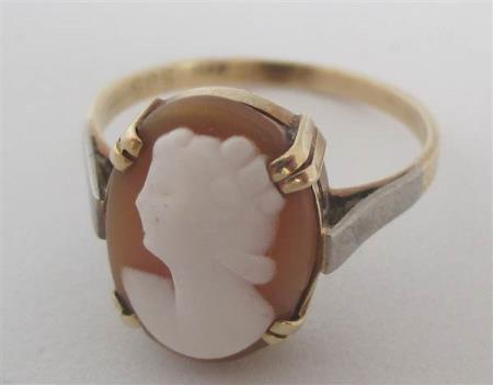 8066 - Camè ring i gull 585