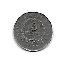 British West-Africa 3 pence 1919 H