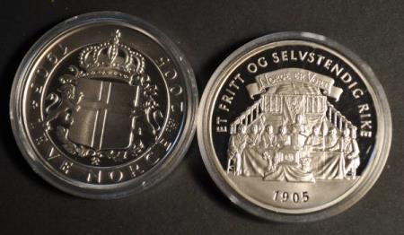 Leve Norge 1905 - 2005  ** 1 Troy Ounce - 31,1 gr. rent sølv