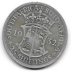 Syd-Africa 2 1/2 shilling 1932