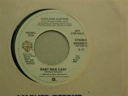 """Carlene Carter With Dave Edmunds – Baby Ride...7""""  PROMO"""