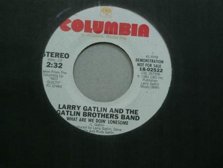 "Larry Gatlin & The Gatlin Brothers Band: What.. 7""  PROMO"