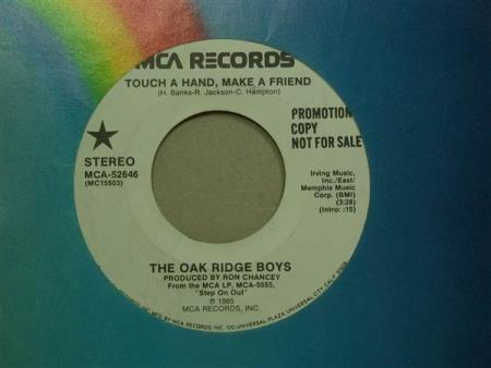 "The Oak Ridge Boys: Touch A Hand, Make A Friend  7""  PROMO"