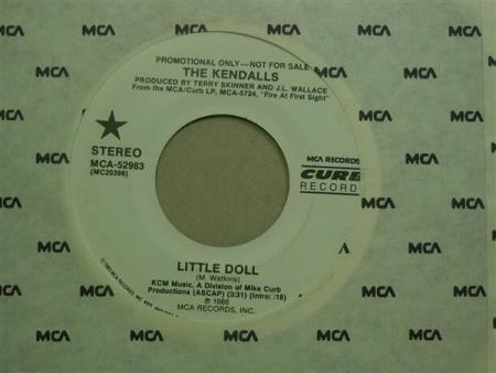"""The Kendalls:  Little Doll  -  7""""  PROMO"""
