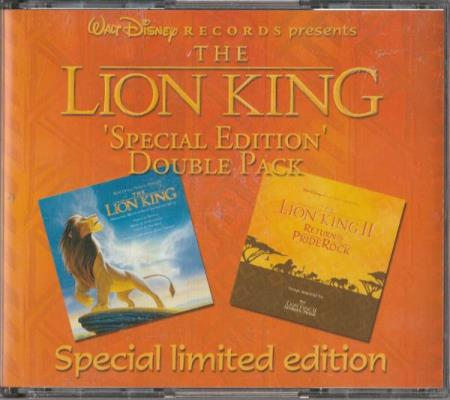 The Lion King Special Edition Double Pack CD Løvenes Konge