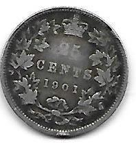 Canada 25 cents 1901