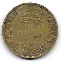 British West-Africa 1 shilling 1945 H