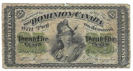Canada 25 cents 1870
