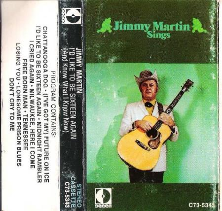 JIMMY MARTIN.-I;D LIKE TO BE SIXTEEN AGAIN.-