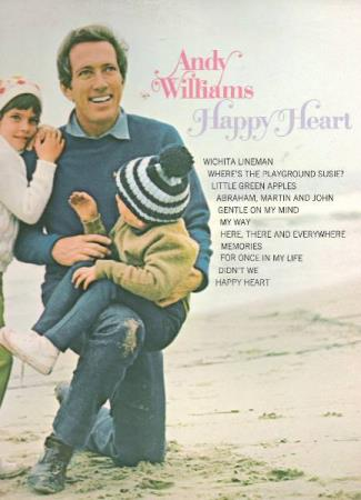 ANDY WILLIAMS.-HAPPY HEART.-GENTLE ON MY MIND-MY WAY.
