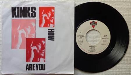 """THE KINKS How Are You 1986 Dutch 7"""""""